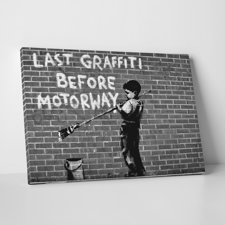 "Last Graffiti Before Motorway (20""W x 16""H)"