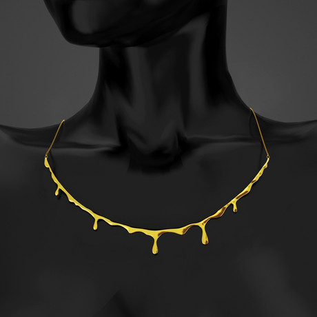 Bloody Necklace // Gold Finish