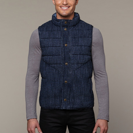Quilted Wool Vest // Washed Indigo (S)