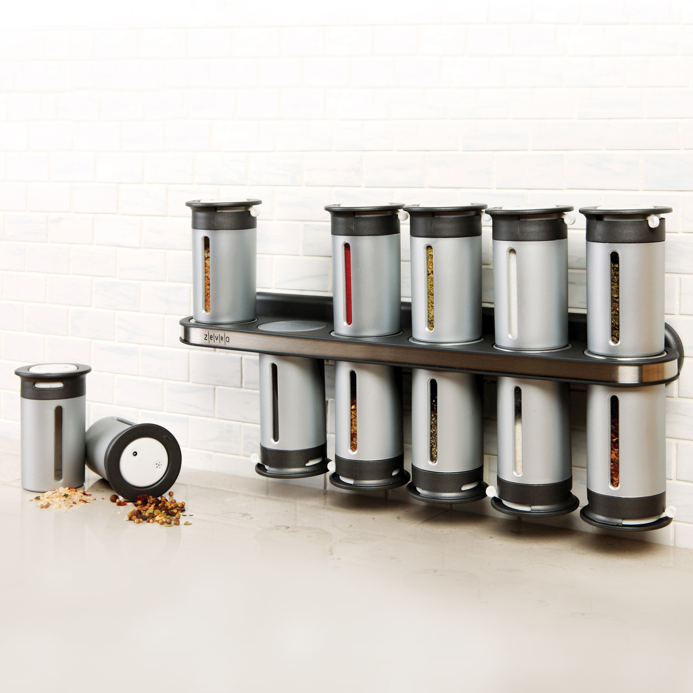 zero gravity™  magnetic can spice rack  grey  zevro  - zero gravity™  magnetic can spice rack  grey