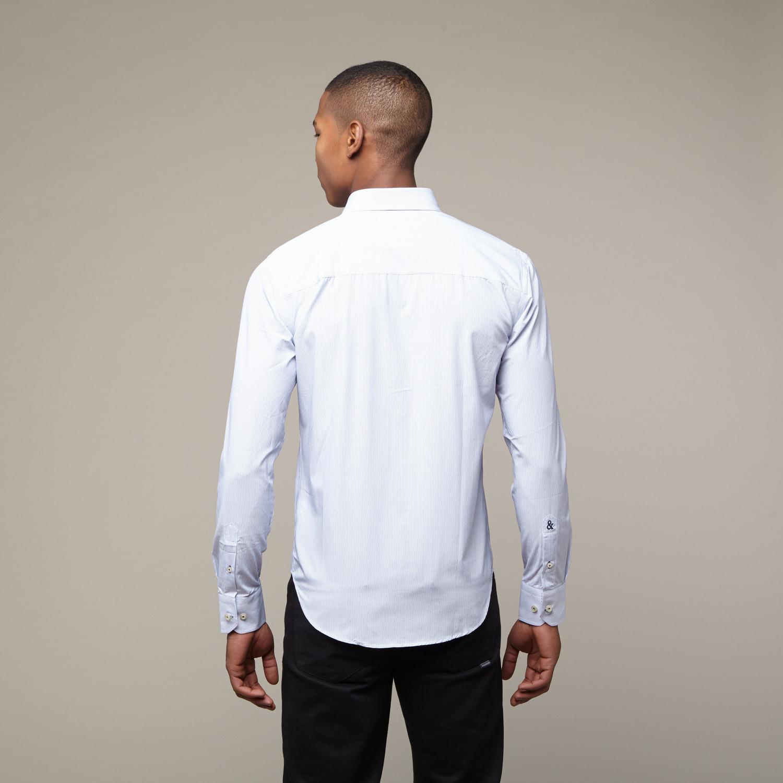 Pinstripe Shirt Light Blue Xs Eight X Touch Of Modern