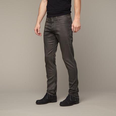 Slim Skinny Leather Jean // Black