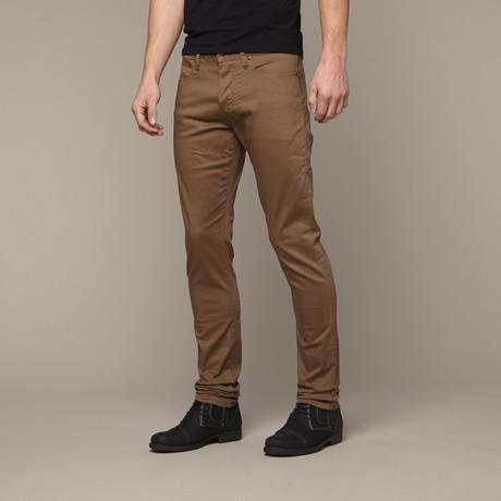 Slim Skinny Leather Jean // Green