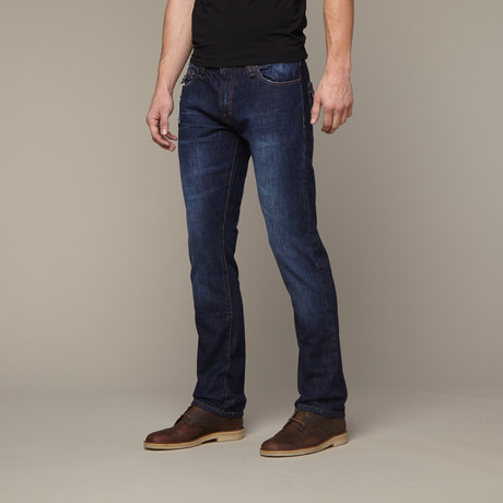 Flap Pocket Jean // Dark Indigo (29WX32L)
