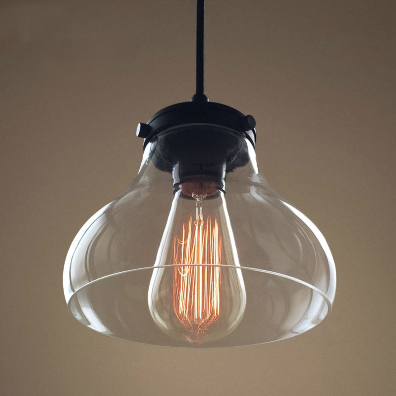 Hanging Glass Bell Lamp