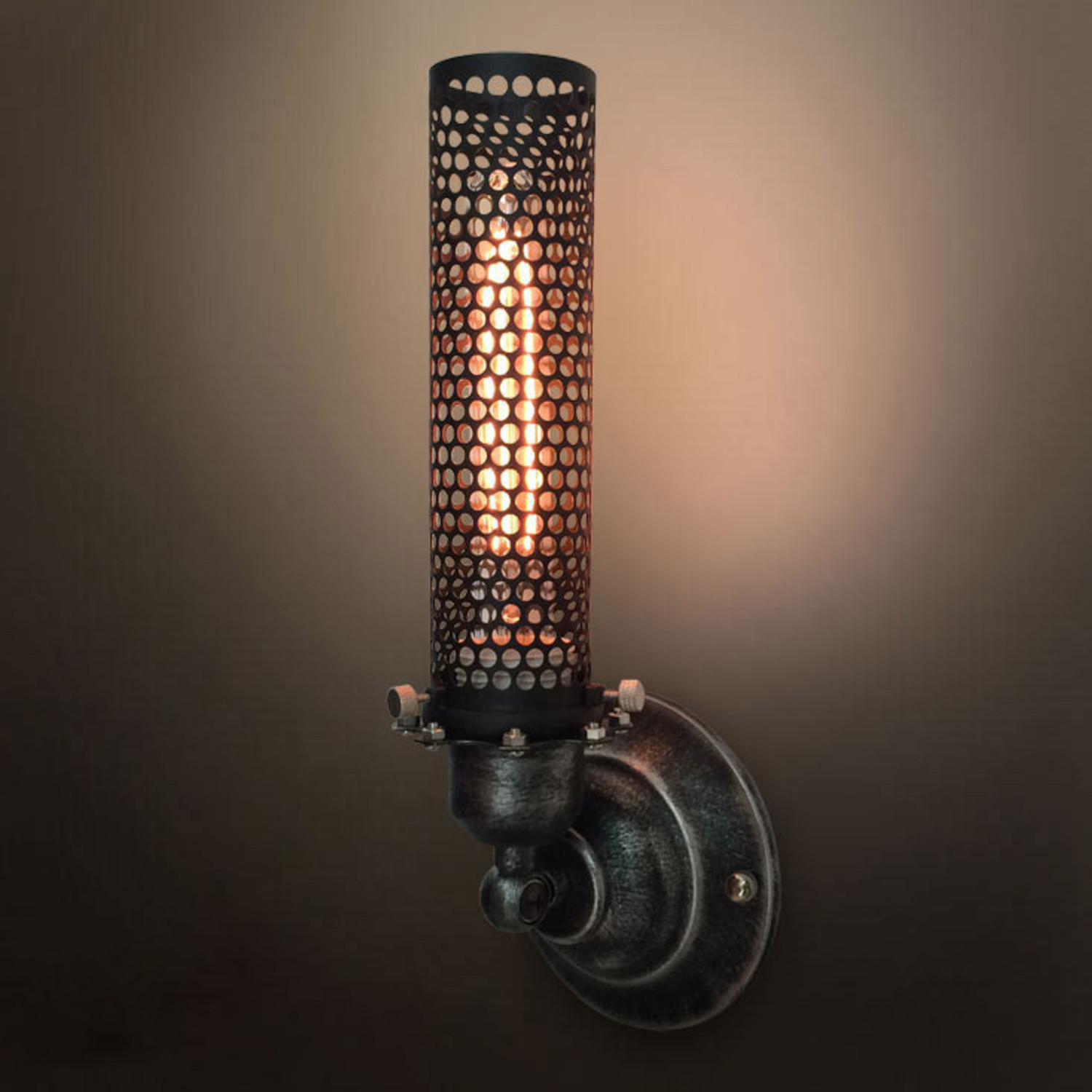 Metal mesh wall sconce westmenlights touch of modern