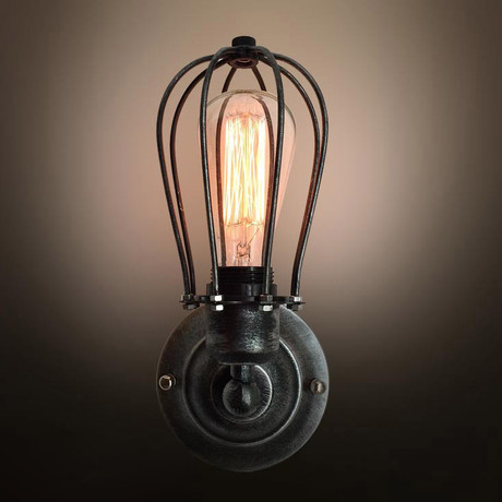 Single-Armed Squirrel Cage Sconce