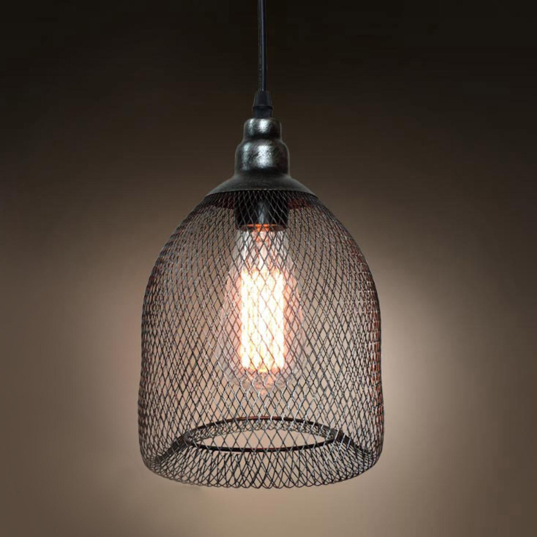 Metal Mesh Cage Lamp