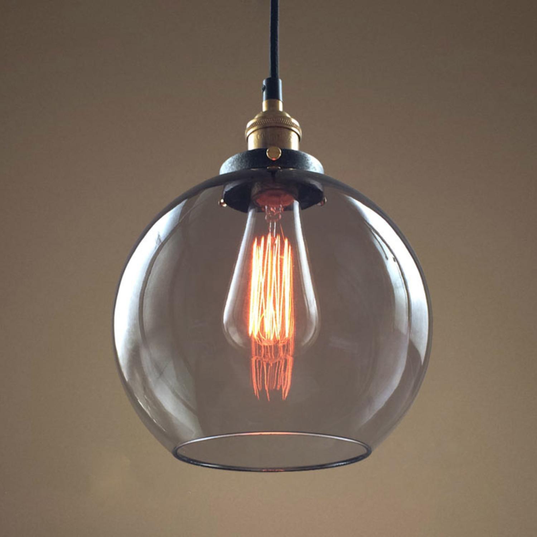 Hanging Glass Orb Lamp