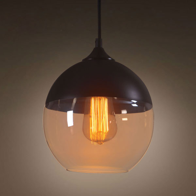 Hanging Glass Globe Lamp