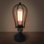 Squirrel Cage Table Lamp