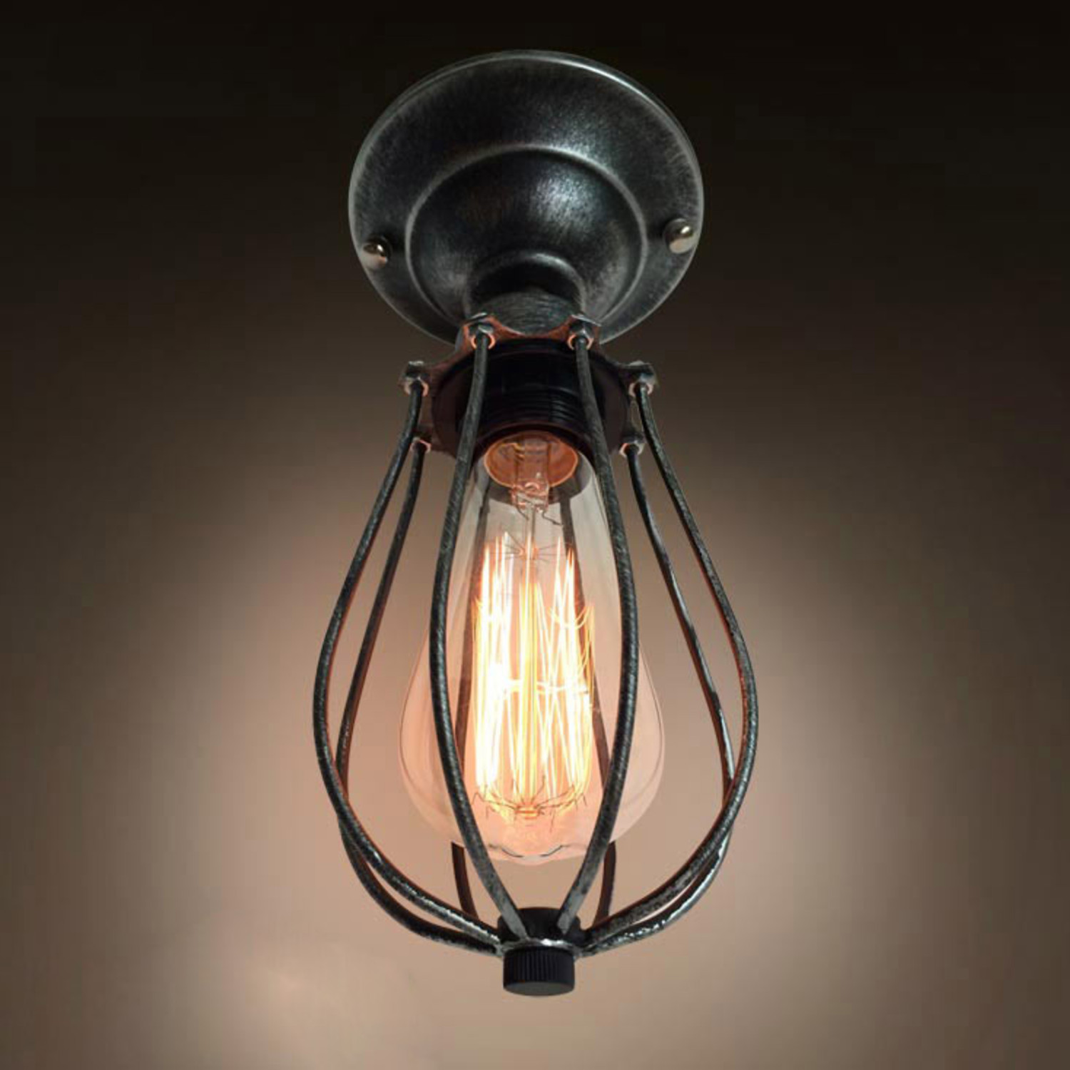 Wire Cage Ceiling Light