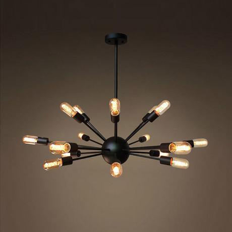 18 Light Metal Sputnik Chandelier