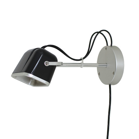 Mob Wall Lamp // Black + Black Cord