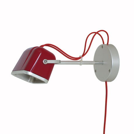Mob Wall Lamp // Red + Red Cord
