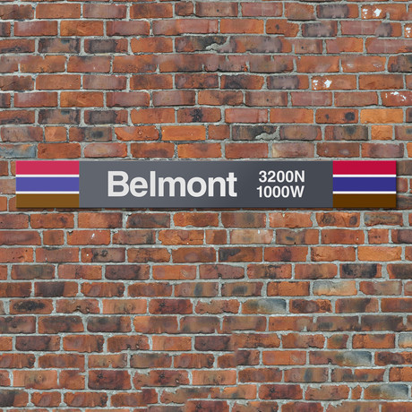 Belmont // Red + Brown + Purple