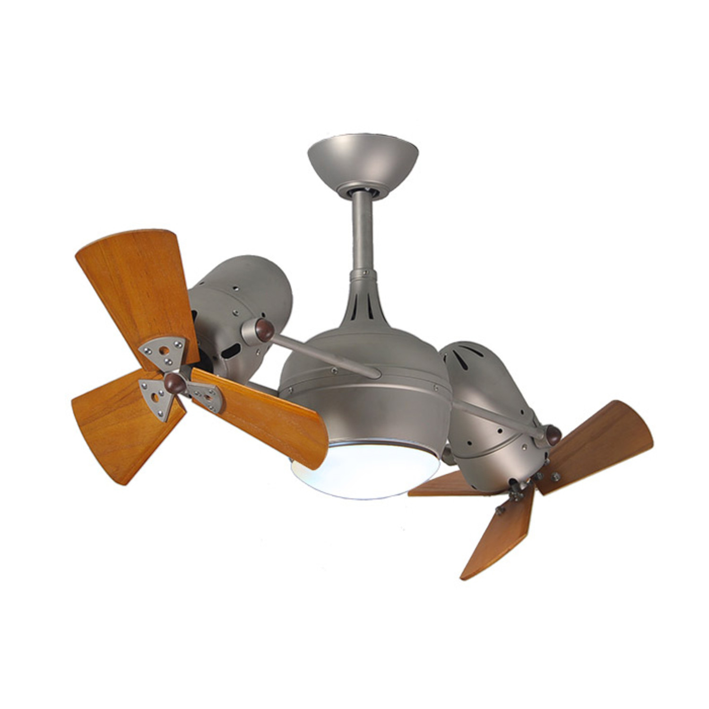 Dagny Ceiling Fan Light Kit Brushed Nickel Base Mahogany