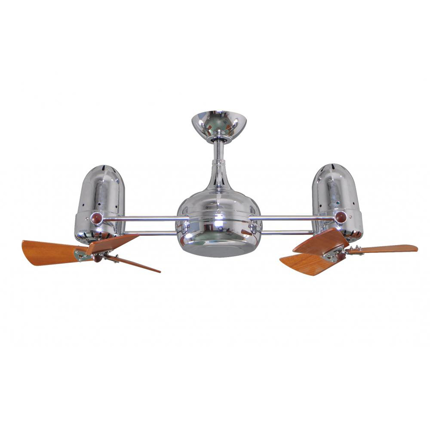 Dagny Wood Dual Rotational Ceiling Fan Brushed Nickel
