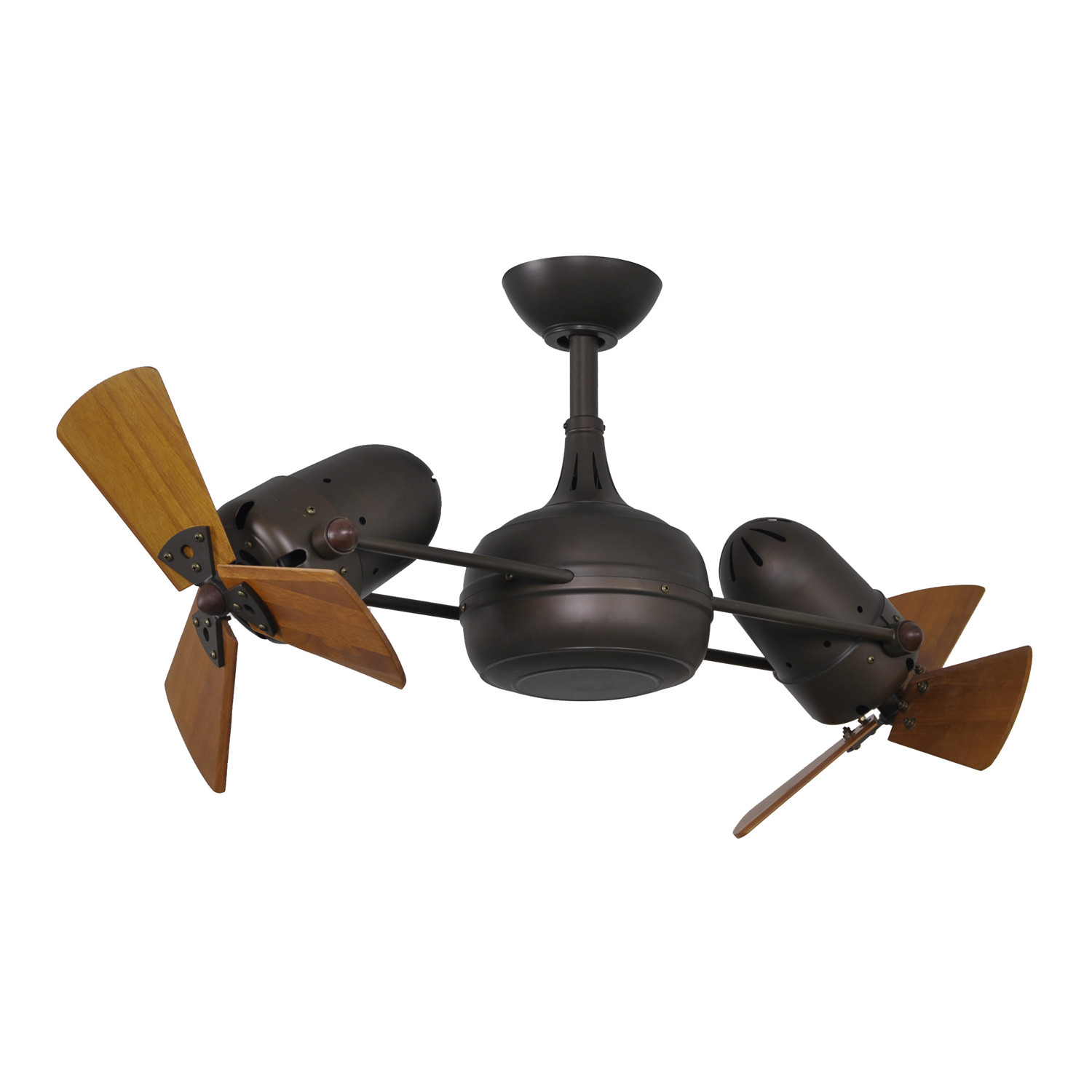 Dagny Wood // Dual Rotational Ceiling Fan (Brushed Nickel) - Matthews ...