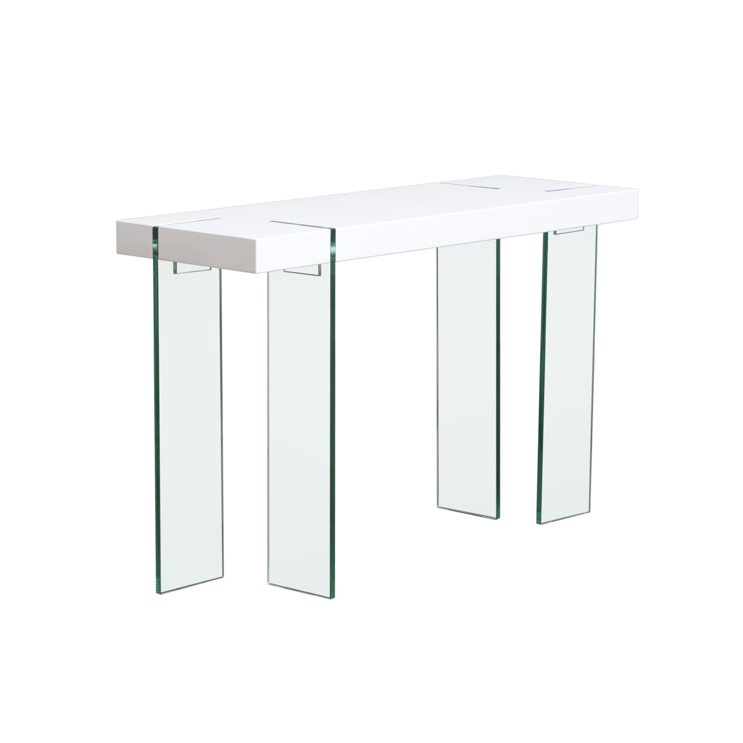 Glass leg console table white lacquer diamond sofa touch of glass leg console table white lacquer geotapseo Gallery