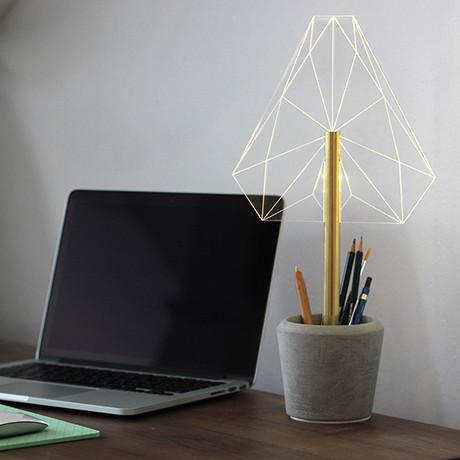 Pen Holder Desk Lamp