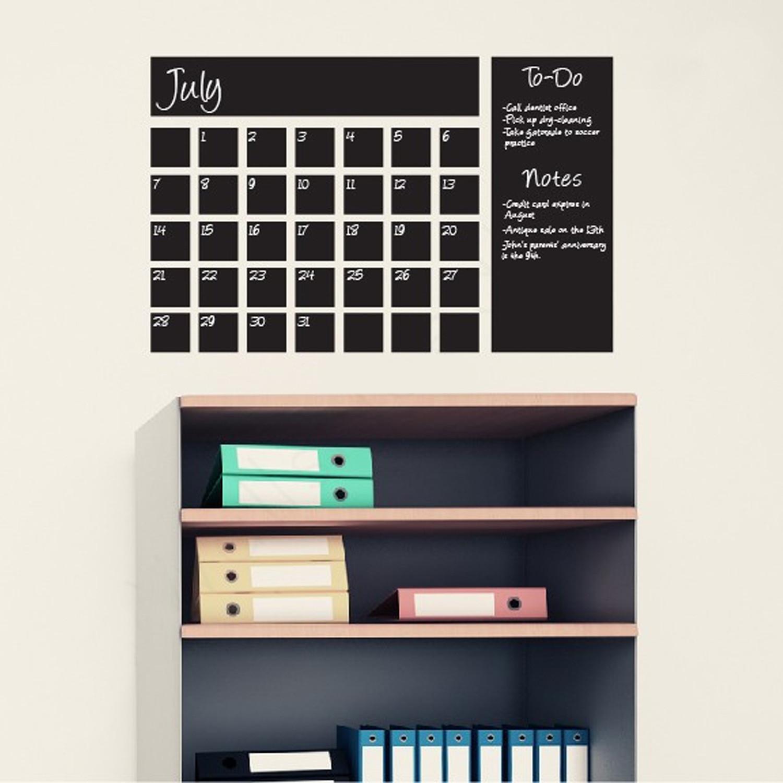 dry erase calendar decal  chalkboard  writable wall calendars  - dry erase calendar decal  chalkboard