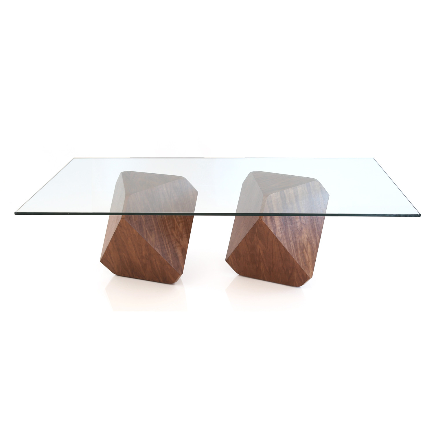 Hal Slender Dining Table Grey Walnut With Glass Top William - Slender dining table
