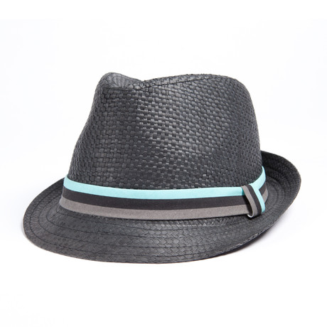 Straw Trilby // Black