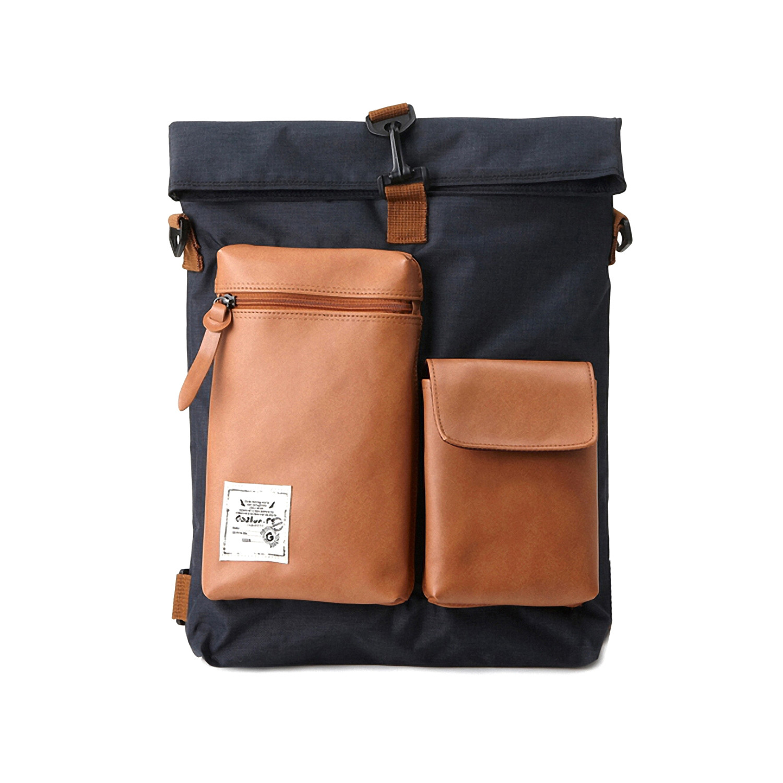 bagdori  ecofriendly bags  touch of modern - slander city backpack (black)