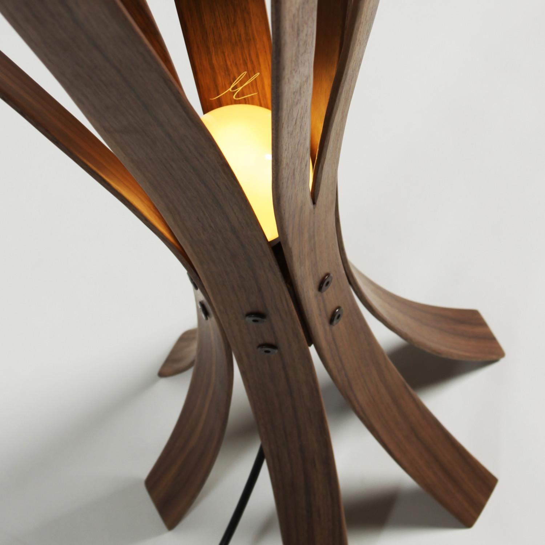 Iris floor lamp walnut macmaster touch of modern iris floor lamp walnut aloadofball Images