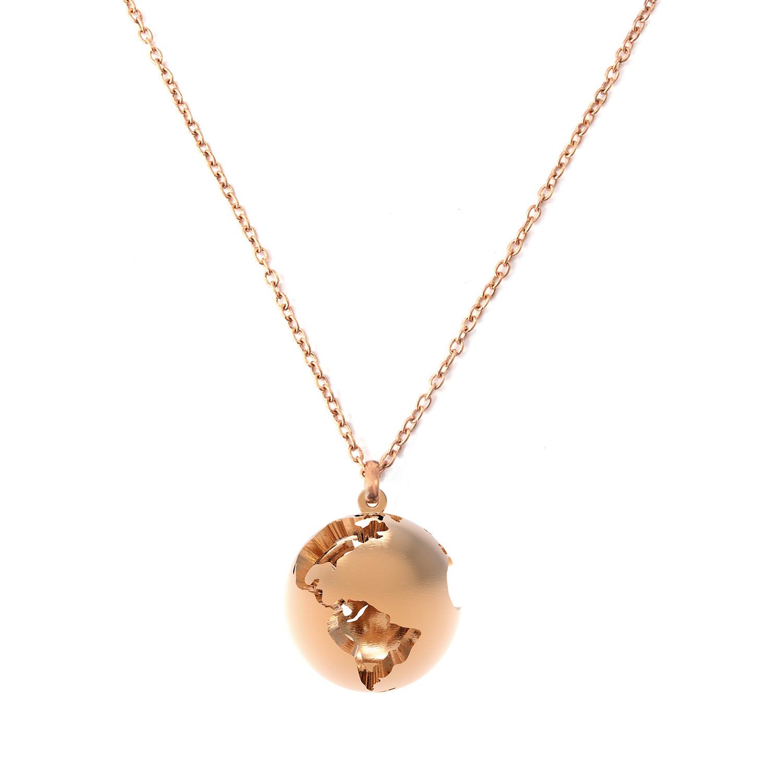 World globe pendant rose gold plated artelier touch of modern world globe pendant rose gold plated aloadofball Choice Image