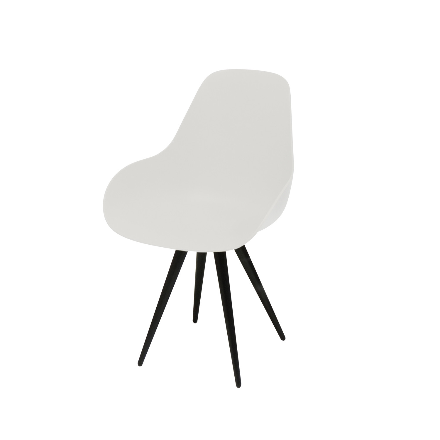 Angel Contract Dimple Chair // Black Legs (White