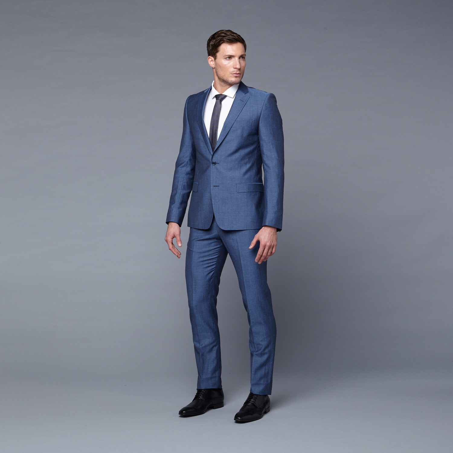 Versace Collection // Wool Two-Piece Suit // Blue Pinstriped (Euro