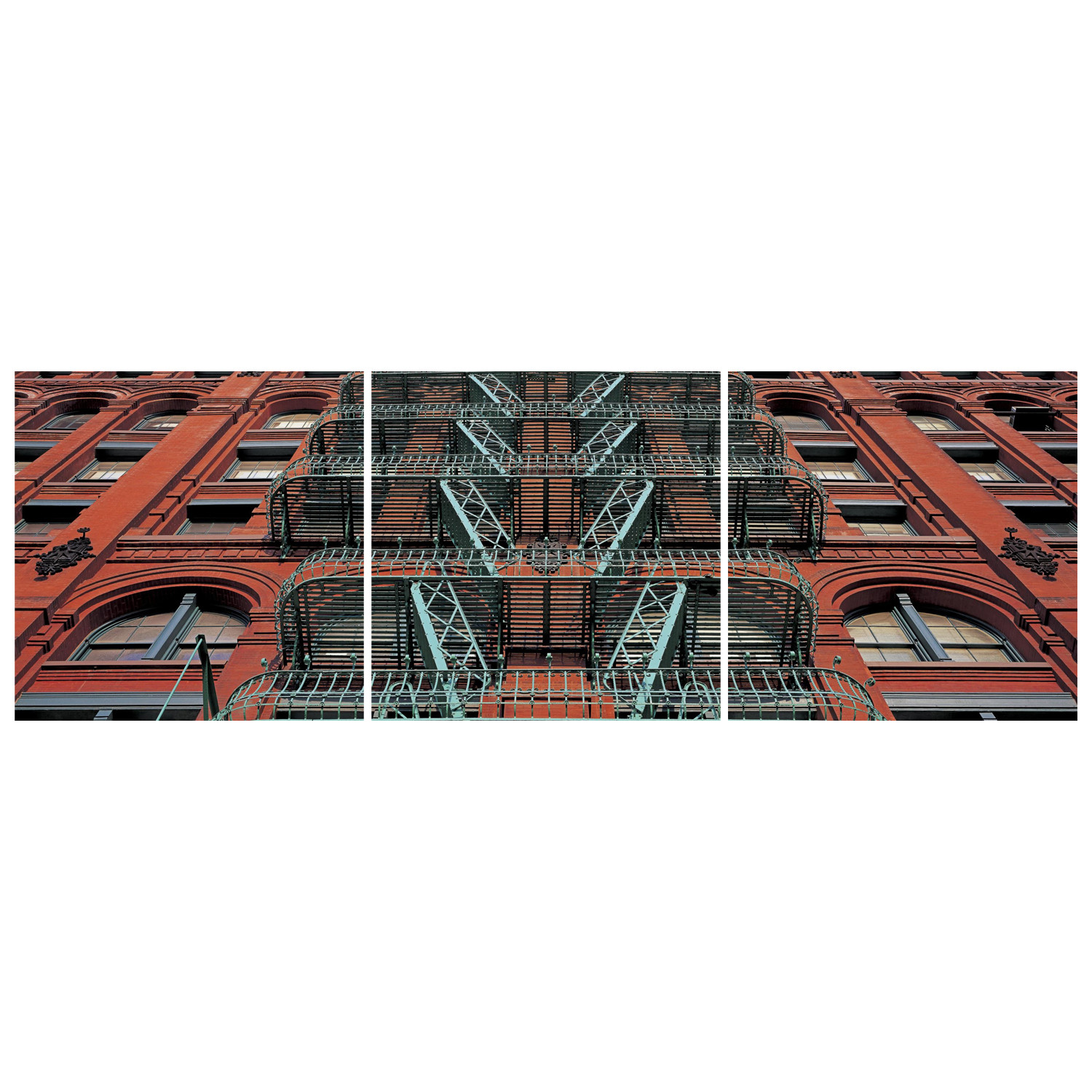 The puck building facade soho nyc triptych cityscape for Puck building