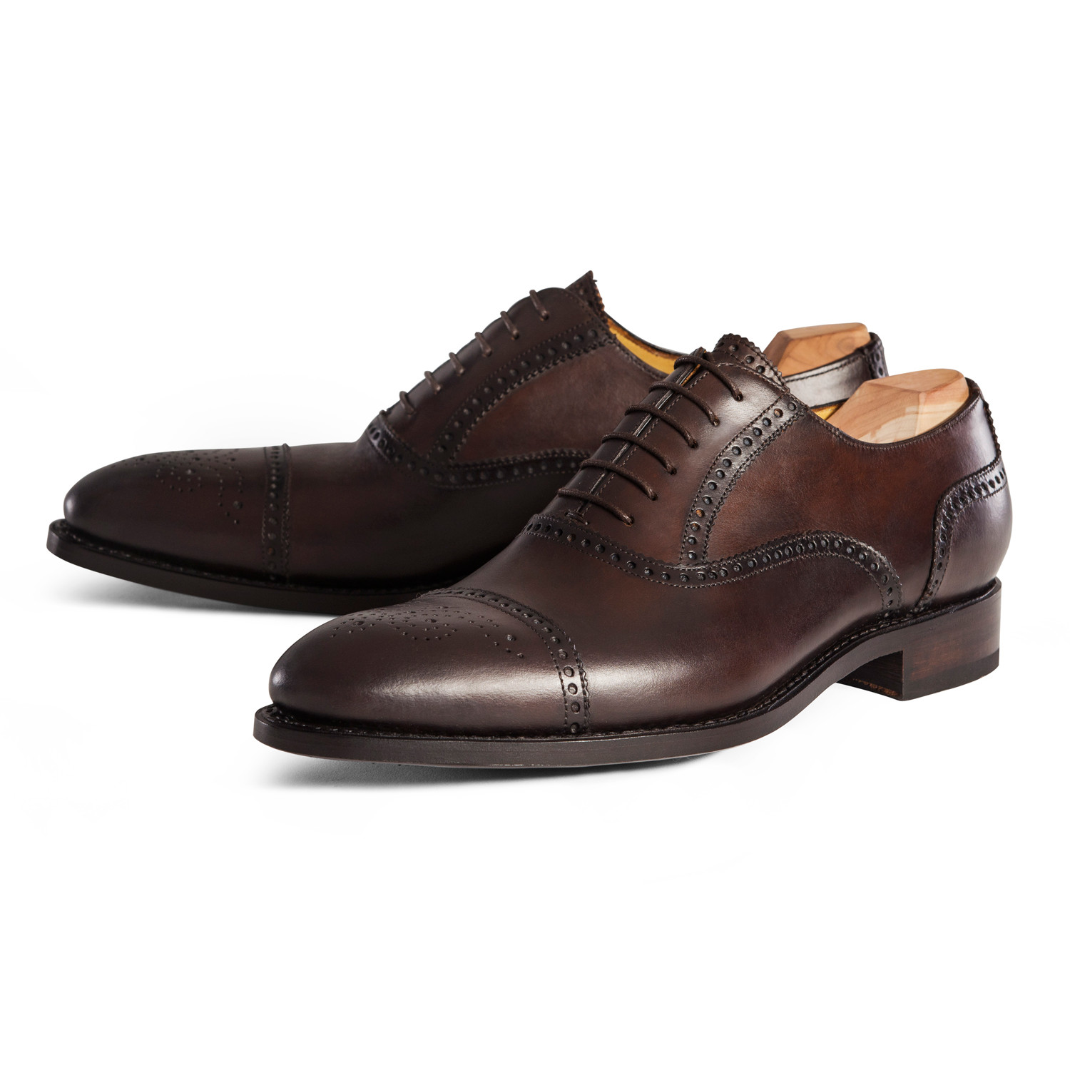 9a4a94044a0269 Cap Toe Oxford    Chocolate (UK  6.5) - Handmade Brogues - Touch of ...