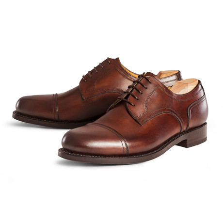 Handmade Brogues // Cap Toe Derby // Chestnut (UK: 10.5)