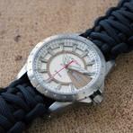 Overlander // Sand + Black Paracord Strap (SM Strap: 15.5 - 16.5 cm)