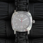 Traveler // Earl Grey + Black Paracord Strap (SM Strap: 15.5 - 16.5 cm)
