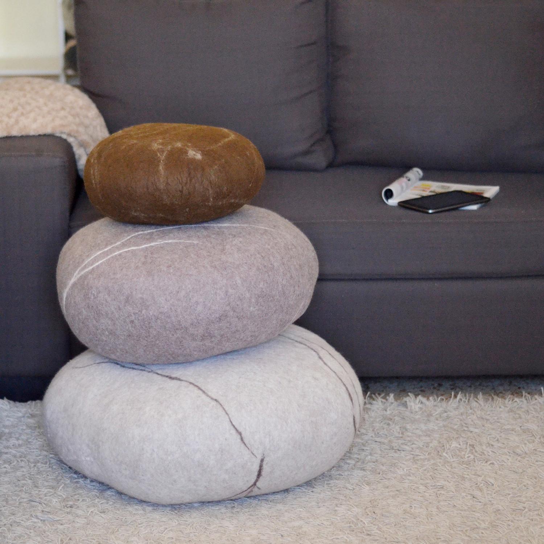 Floor Cushions // Set of 3 (Dark Gray, Light Gray, Gray) - VladaHom - Touch of Modern