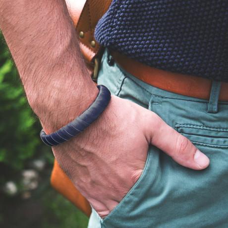 "Braided Charging Bracelet // Dark Blue (iPhone // 5.5"" - 6.3"")"