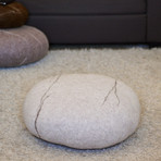 Floor Pillows Stones : Felted Wool Stone Floor Cushion // Large (Dark Grey) - VladaHom - Touch of Modern