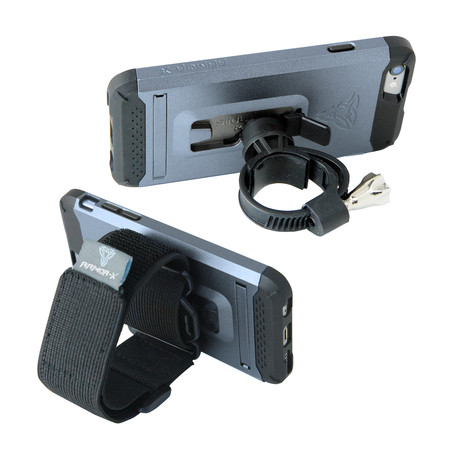 Armband & Bar Bike Mount + Rugged Case + Kickstand // Navy (iPhone 6/6s)