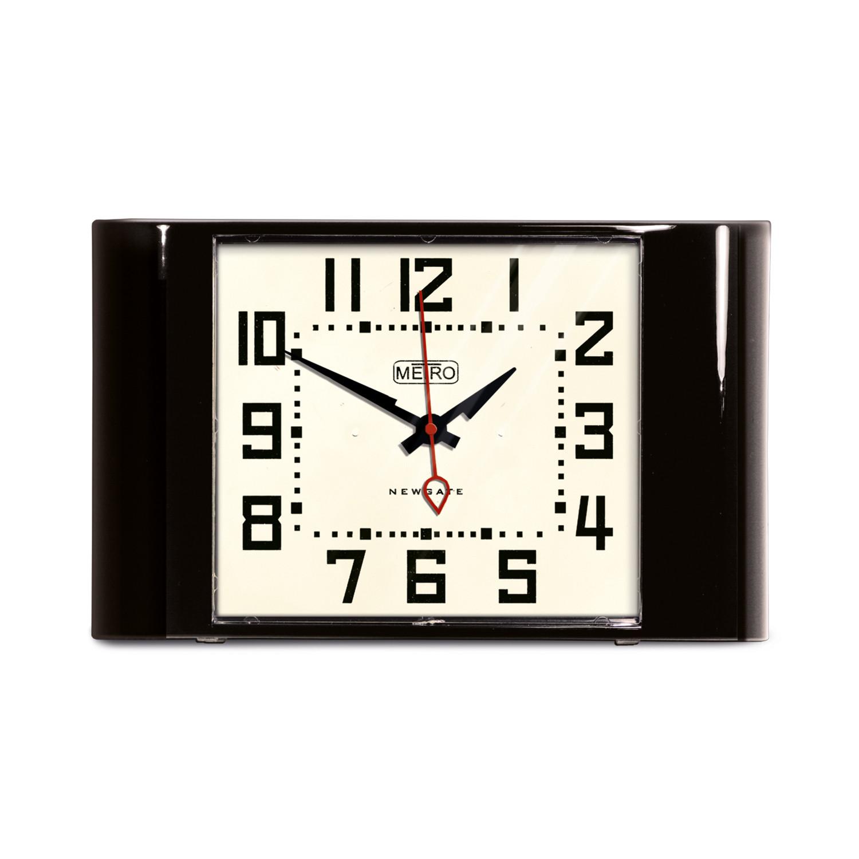 Mini metro clock black newgate clocks touch of modern for Touch of modern clock