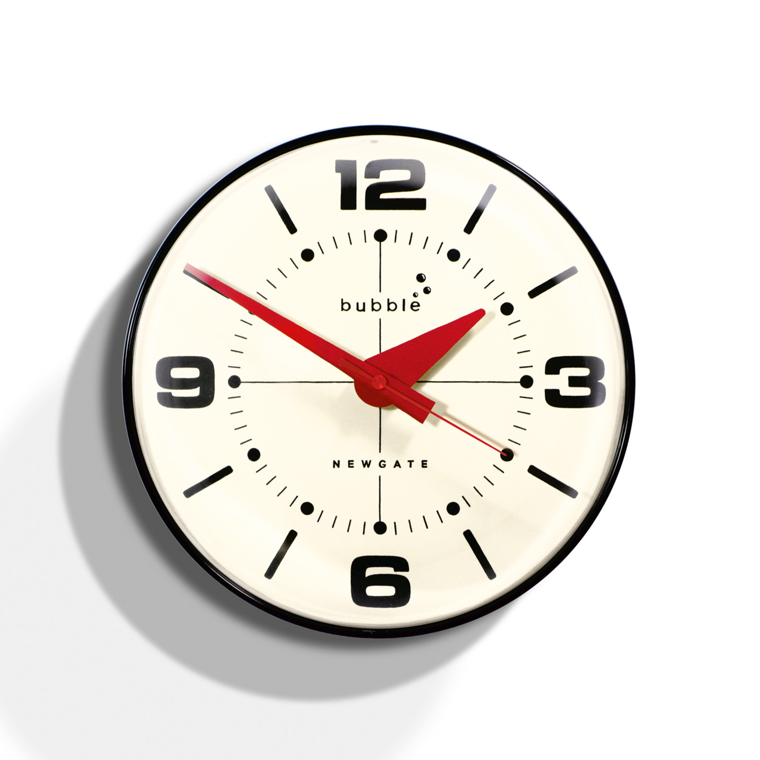 Bubble wall clock black newgate clocks touch of modern for Touch of modern clock