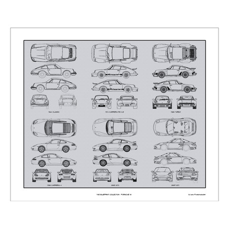 Porsche 911 Blueprint Collection