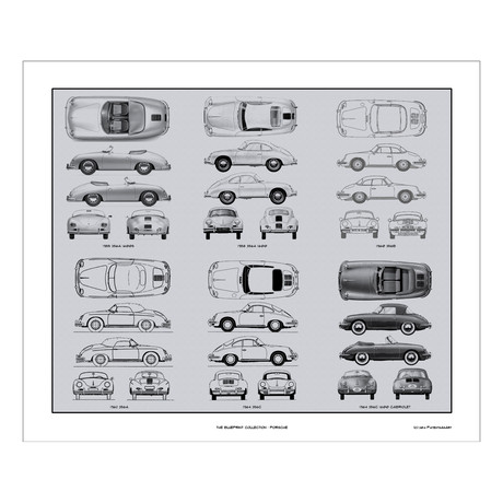Porsche 356 Blueprint Collection