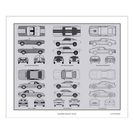 Ford Mustang Blueprint Collection