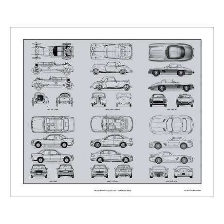 Mercedes Benz # 2 Blueprint Collection