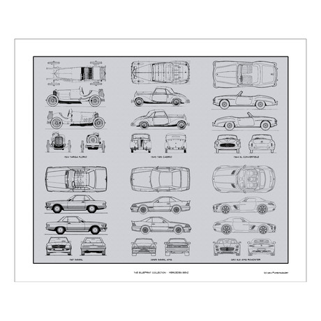 Mercedes Benz # 1 Blueprint Collection