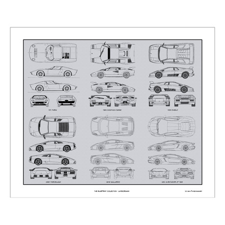 Lamborghini Blueprint Collection